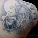 Tatuaje Brujo y Halcon