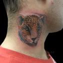 Tatuaje Guepardo en Cuello