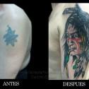 Tatuaje Indio Coverup