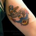 Tatuaje Ancla Old School