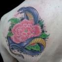 Tatuaje Serpiemte y Flor