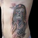 Tatuaje Catrina Mujer Calavera