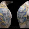 Tatuaje Biomecanico a color