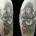 Tatuaje Ganesha Dios Hindú