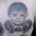 Tatuaje Retrato y Rosas