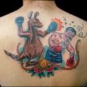 Tatuaje Canguro Boxeador