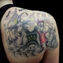 """Tatuaje Tim Burton """"Pesadilla antes de Navidad"""""""