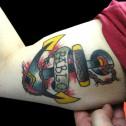 Tatuaje Ancla con Nombre