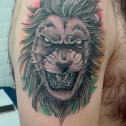 Tatuaje Leon Rastafari