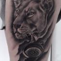 Tatuaje Retrato Leona