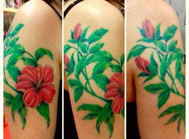 Tatuaje-Floral-Hibiscos