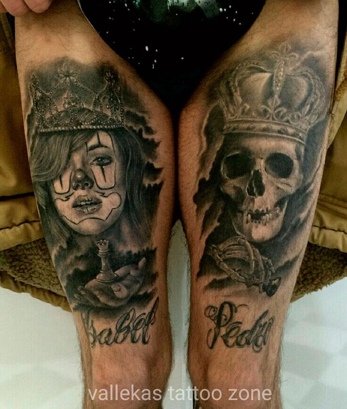 Tatuaje Chicana y Calavera