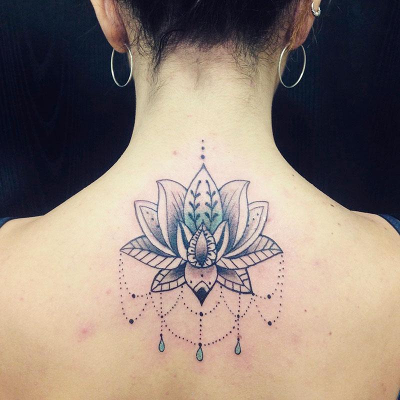 Tatuaje Mandala Loto