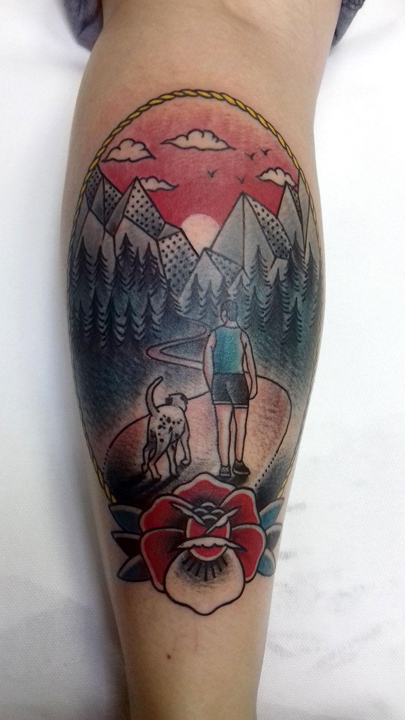 Tatuaje-Marco-Paisaje-Montañas