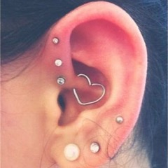 perforaciones en el cartílago de la oreja