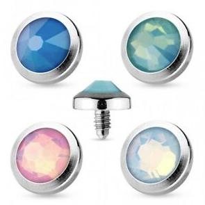 piezas externas para microdermal de diamante rosa