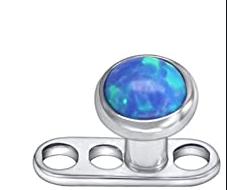 microdermal entero de titanio piedra de diamante