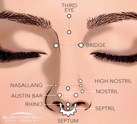 Tipos de piercings para nariz